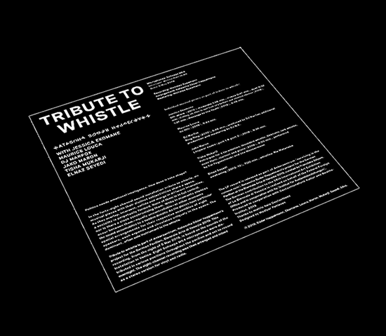 TRIBUTE TO WHISTLE - LP by Natascha Suder Happelmann for german pavilion 2019