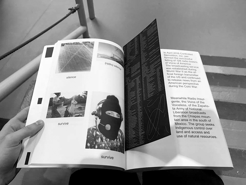 Network, A book for Nicolas Jaar latest radio based project, NYC, published by Other People and Printed Matter Inc., Designed with Jena Myung, photo by Nicolas Jaar